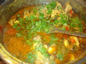Final garnished Chicken Biriyani