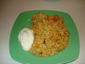 Chicken Biriyani served with Joghurt