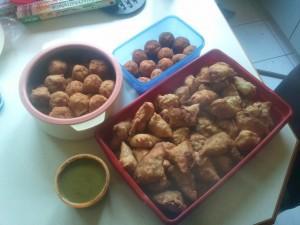 Ilango Birthday Party snacks