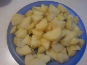 Cut Boiled Potatos